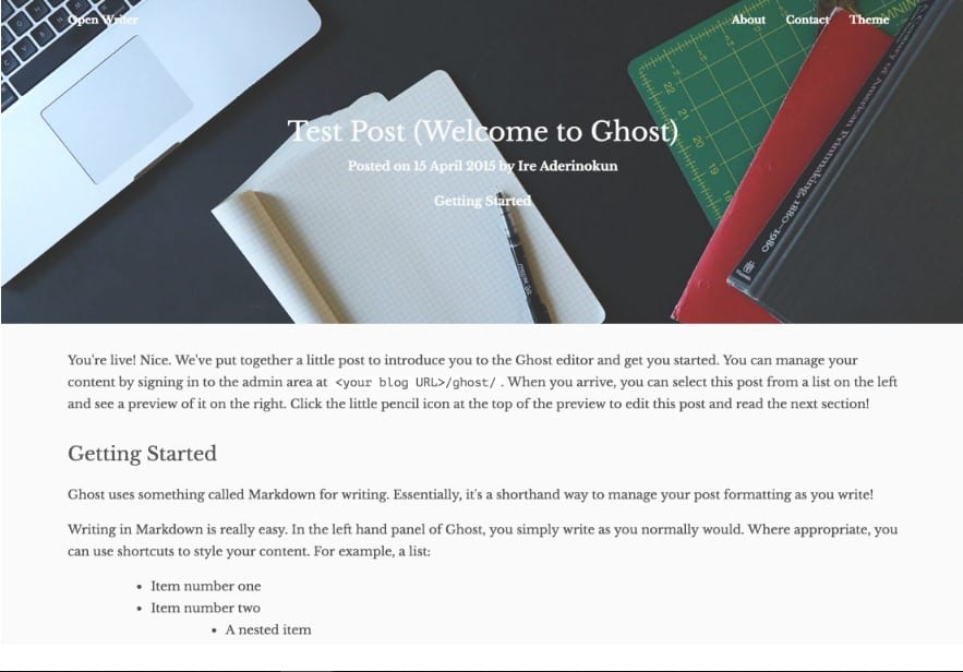 Ghost Themes: 15 Free Themes for Blogs (Easy to Install and Use)