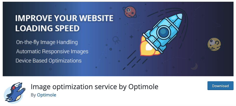Optimole plugin homepage