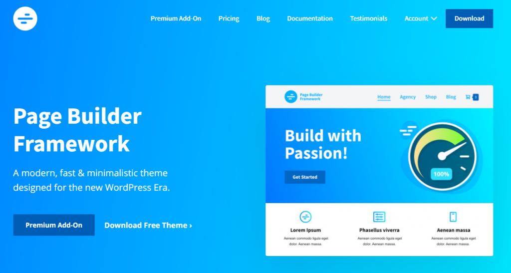 Screenshot of Page Builder Framework WordPress theme