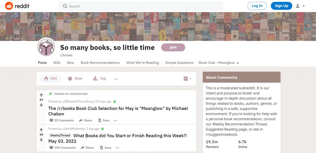 Reddit thread of So many books, so little time
