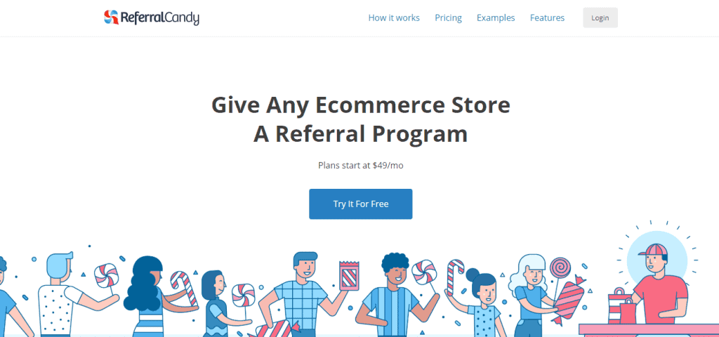 ReferralCandy landing page