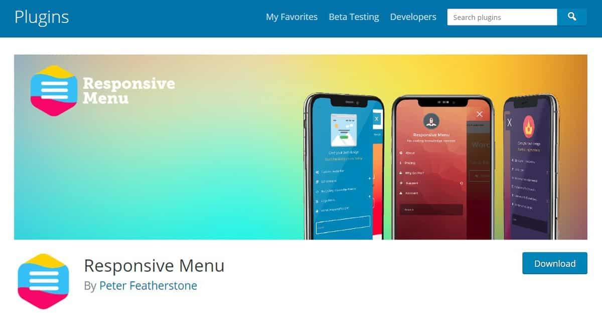 responsive menu có hơn 150 tùy chọn