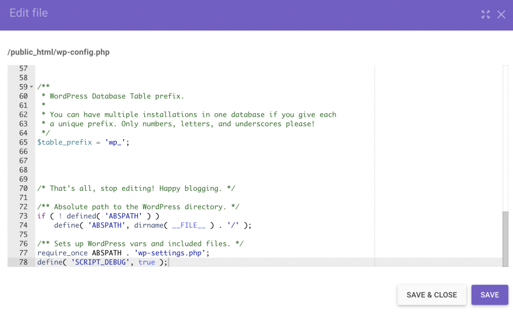Enable SCRIPT_DEBUG in the wp-config.php