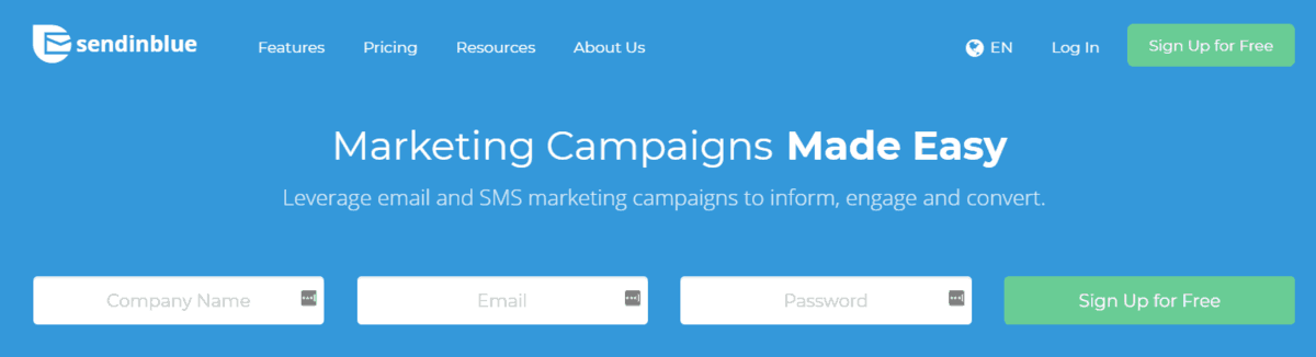sendinblue email marketing campaign tool