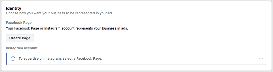 Setting Up The Identity and Display Format on Facebook ads