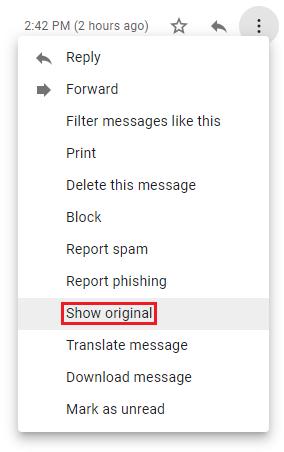 Screenshot showcasing the Show original button