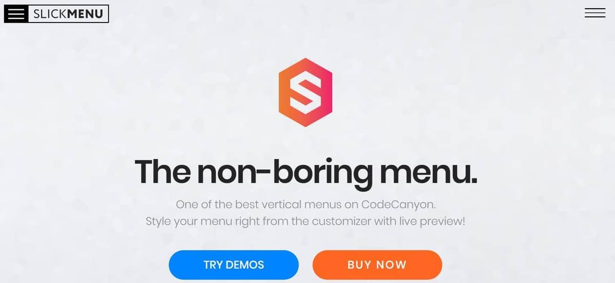 slick menu hỗ trợ tạo menu đa cấp trong WordPress