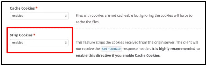 enable the strip cookie option in keyCDN to fix the Serve Static Content from a Cookieless Domain