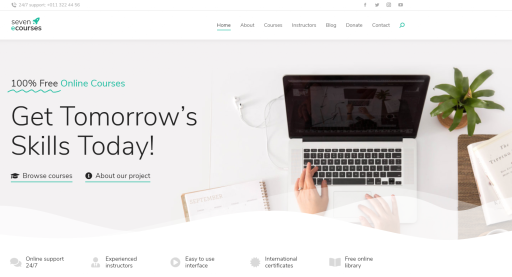 Screenshot of TheSeven WordPress theme
