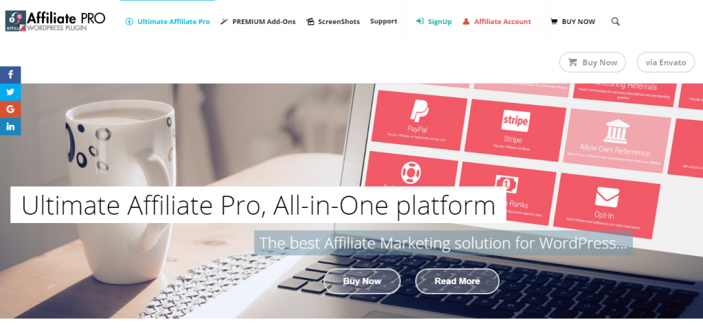 Ultimate Affiliate Pro landing page
