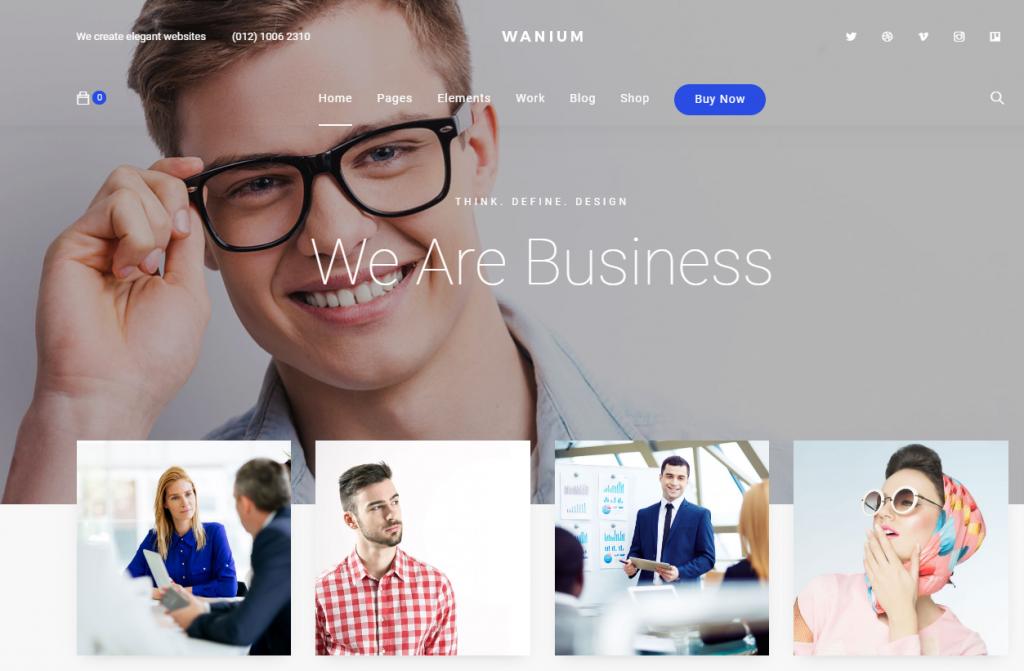 Screenshot of Wanium WordPress theme