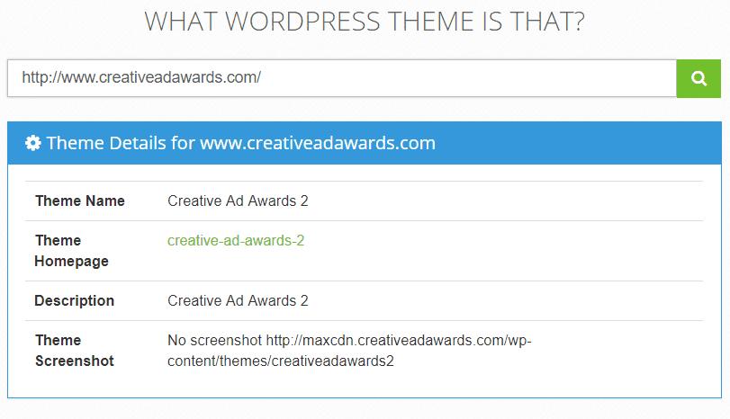 What wordpress theme is that wordpress theme detector tool