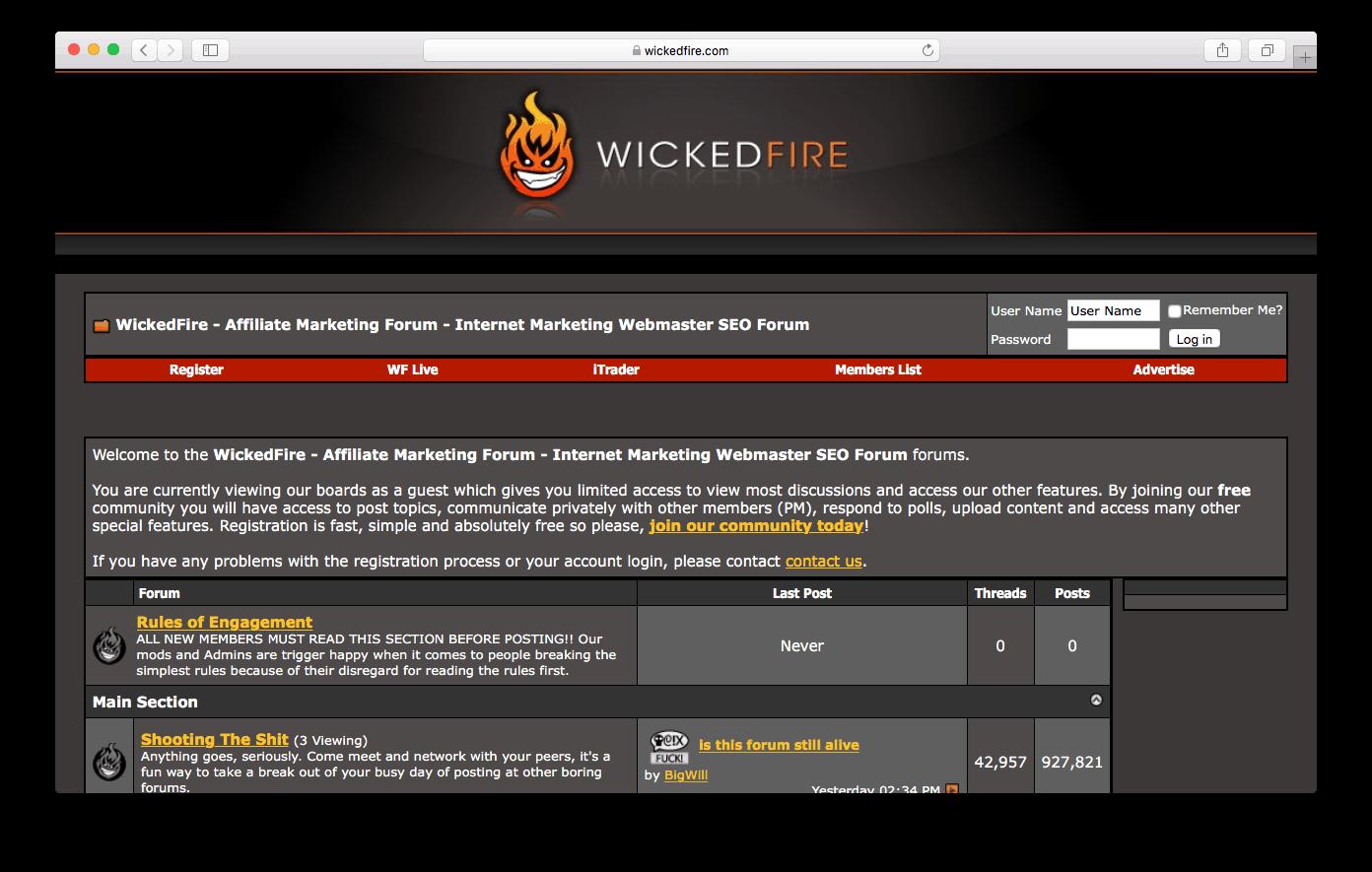 Wicked Fire SEO forum