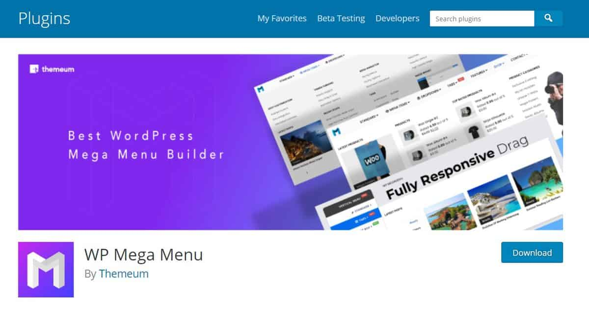 this plugin offers a fully-functioning mega menu for wordpress user