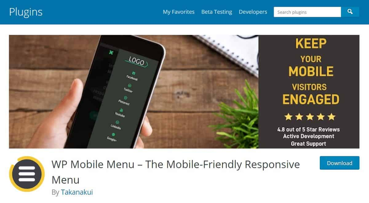 this amazing menu plugin is the best solution to optimize the website menu for mobile devices
