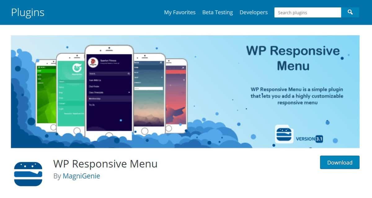 plugin này là menu plugin WordPress responsive