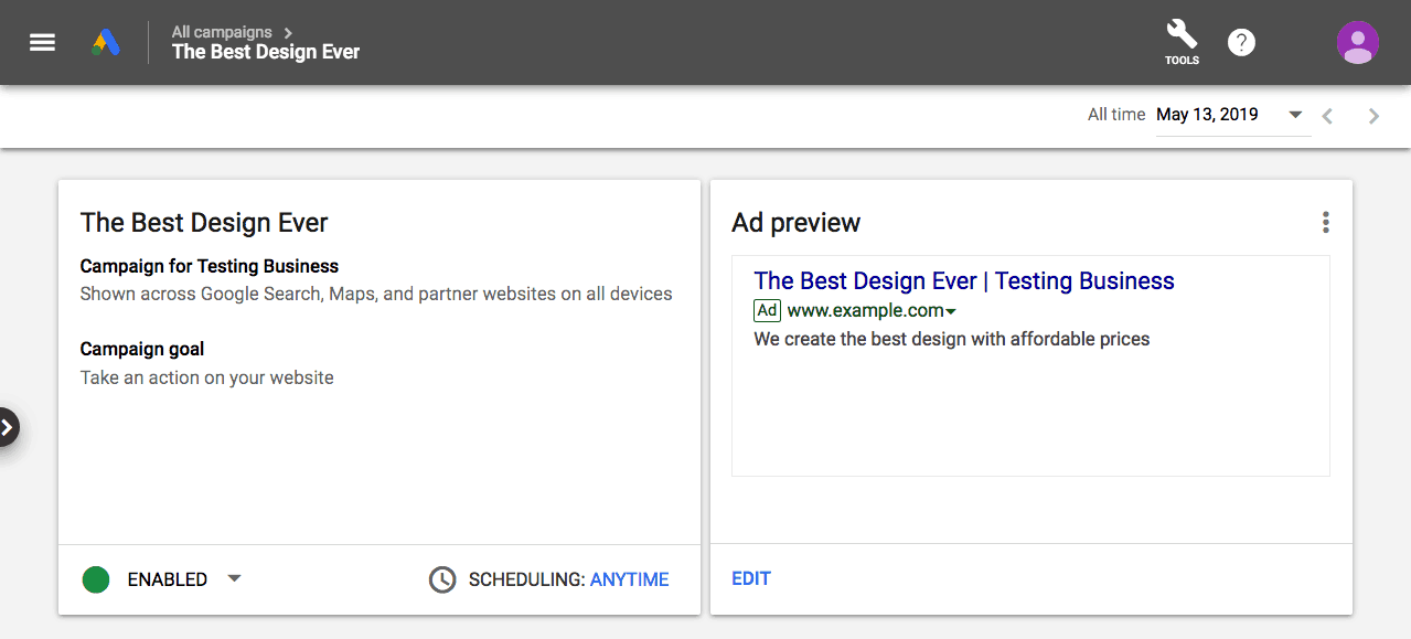 Your Google Ads is Ready