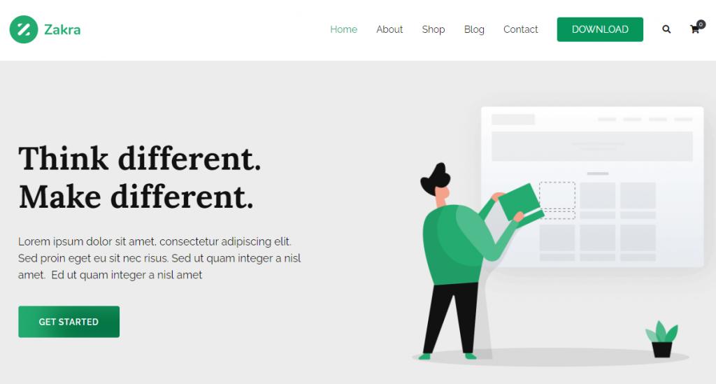 Screenshot of Zakra WordPress theme