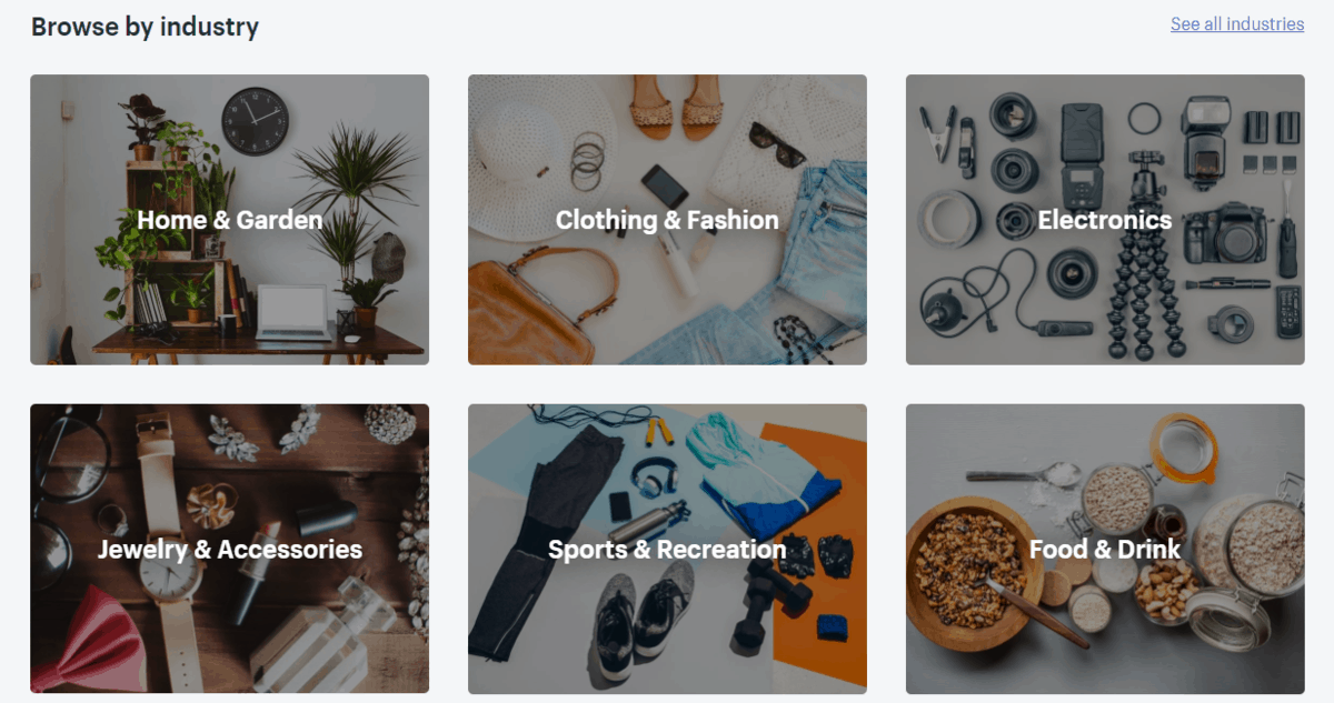 Theme store's categories