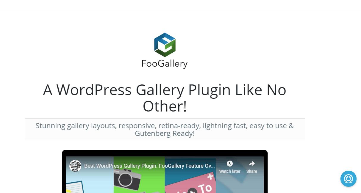 FooGallery's homepage