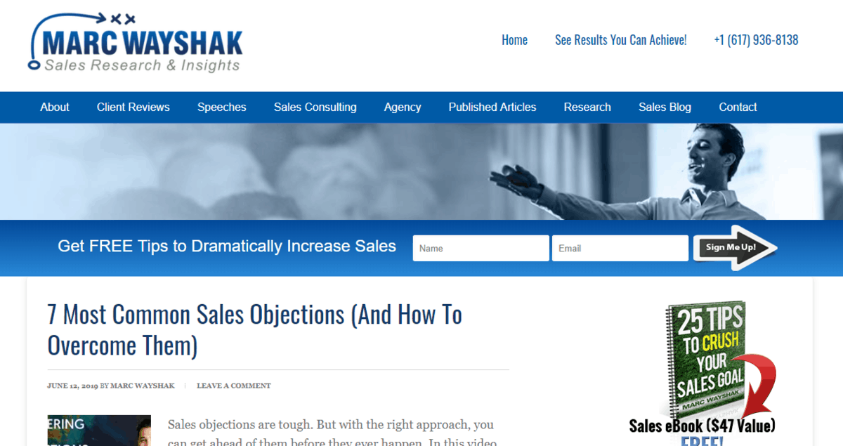 Marc WayShak's blog's homepage