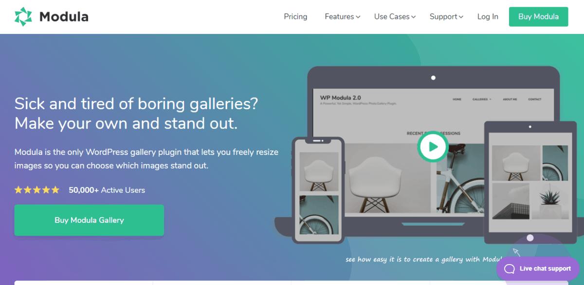 Modula Gallery's homepage