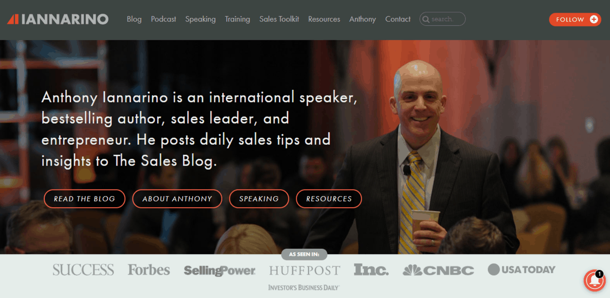 The Sales Blog Homepage
