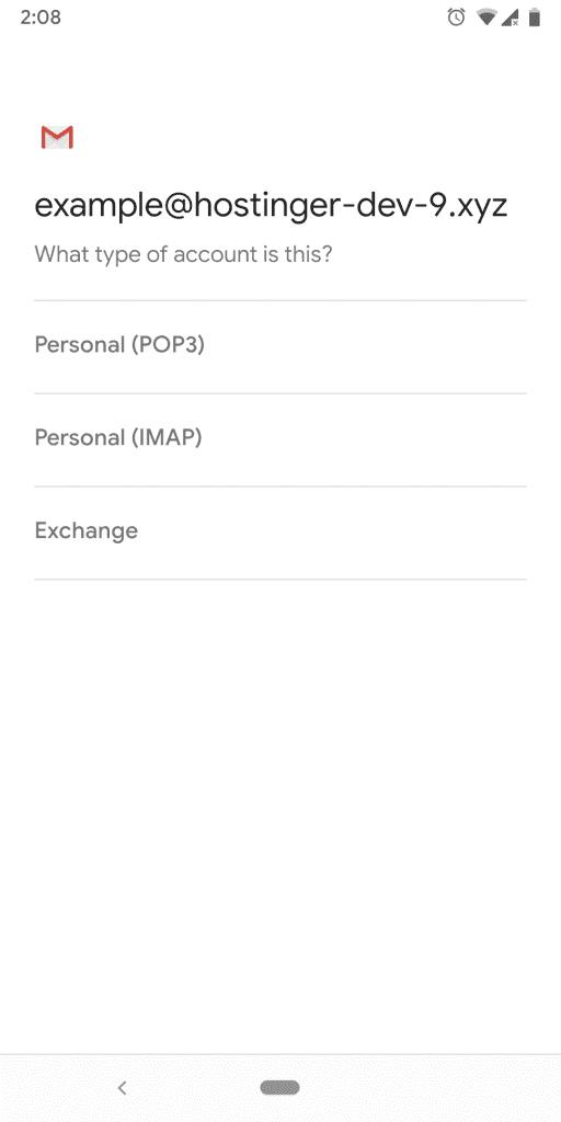 Select IMAP email protocol