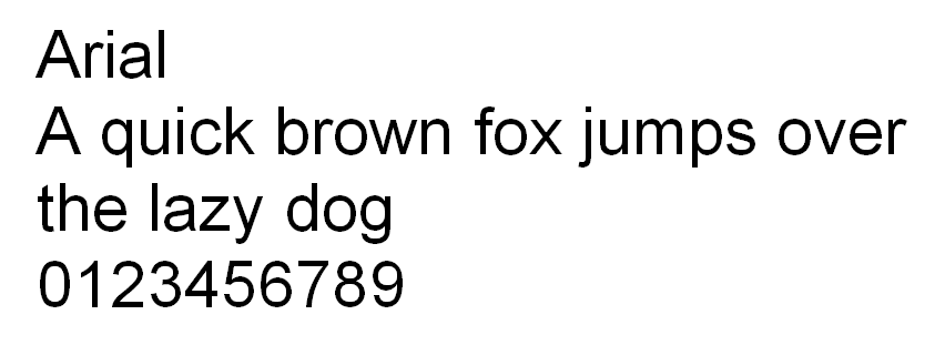 Arial HTML font