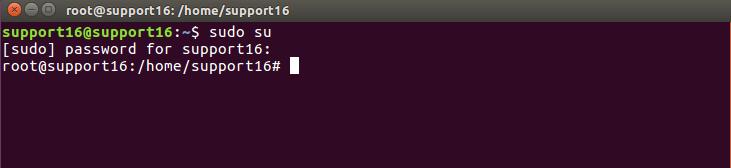 enabling administrative rights on Ubuntu Terminal