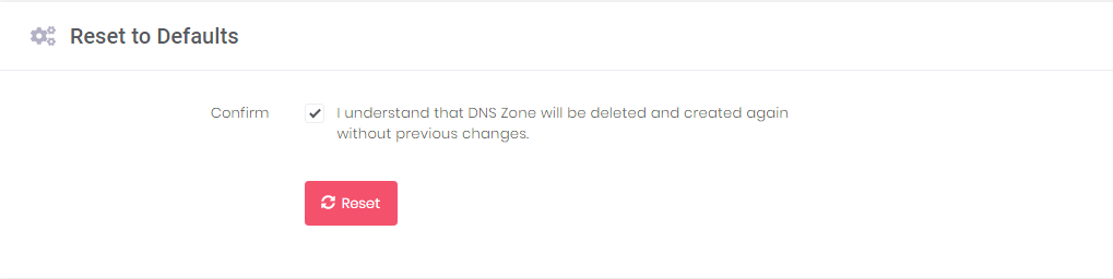 Resetting the Hostinger's DNS Editor to its default settings