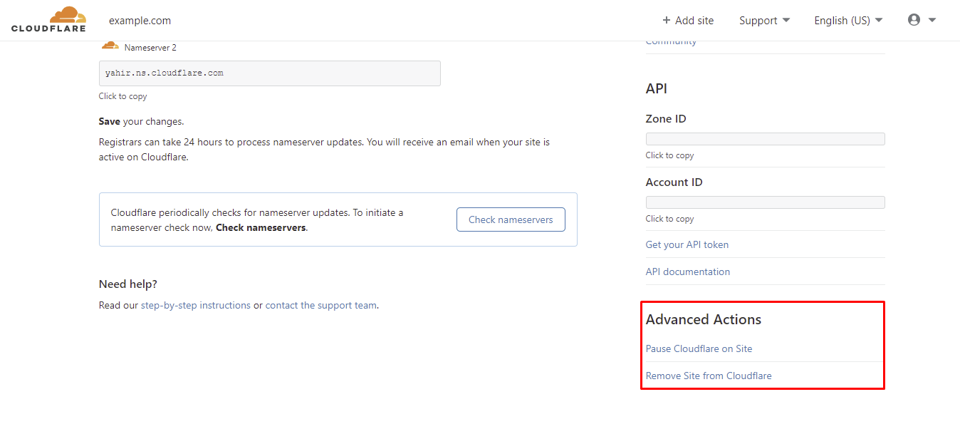 cloudflare advanced options