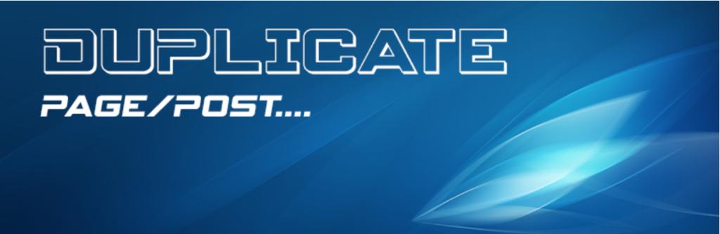 Duplicate page or post plugin logo