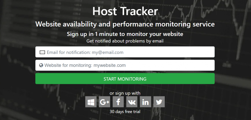 host tracker homepage