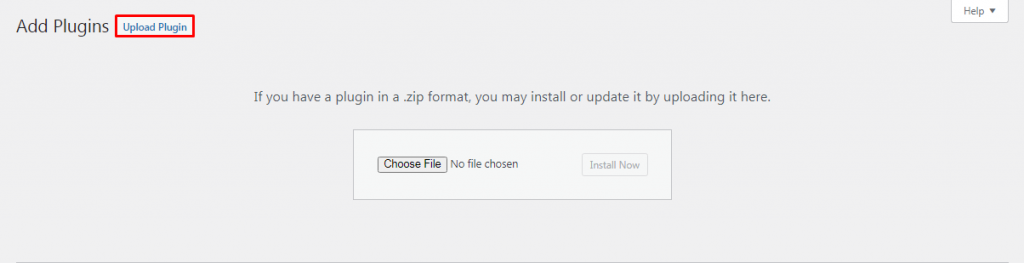 """Screenshot demonstrating where """"Upload plugin"""" button is located"""