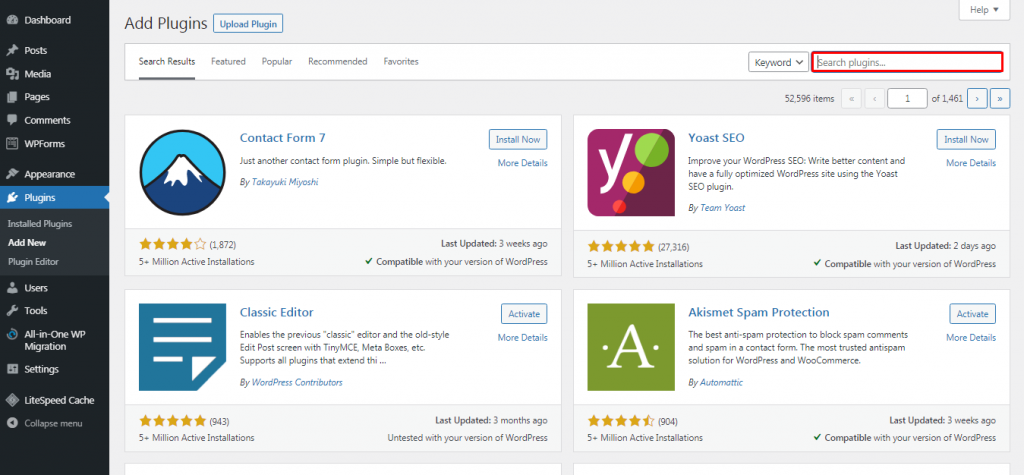 Add Plugins Page on WordPress