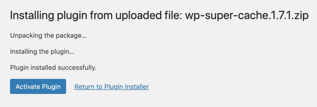 Screenshot demonstrating how to activate plugin