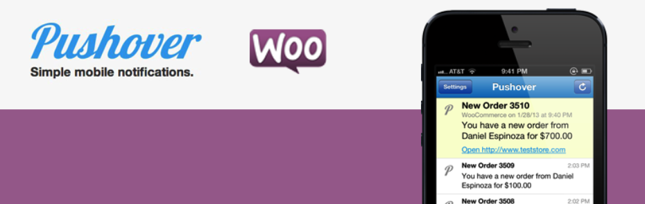 pushover for woocommerce plugins add