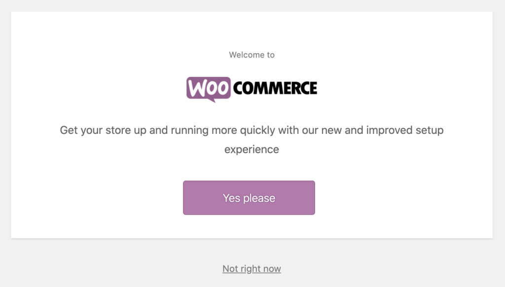 woocommerce set up