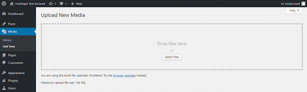 This image shows you how to check your WordPress maximum file upload size. You can use this information to determine whether or not you need to increase the maximum limit.
