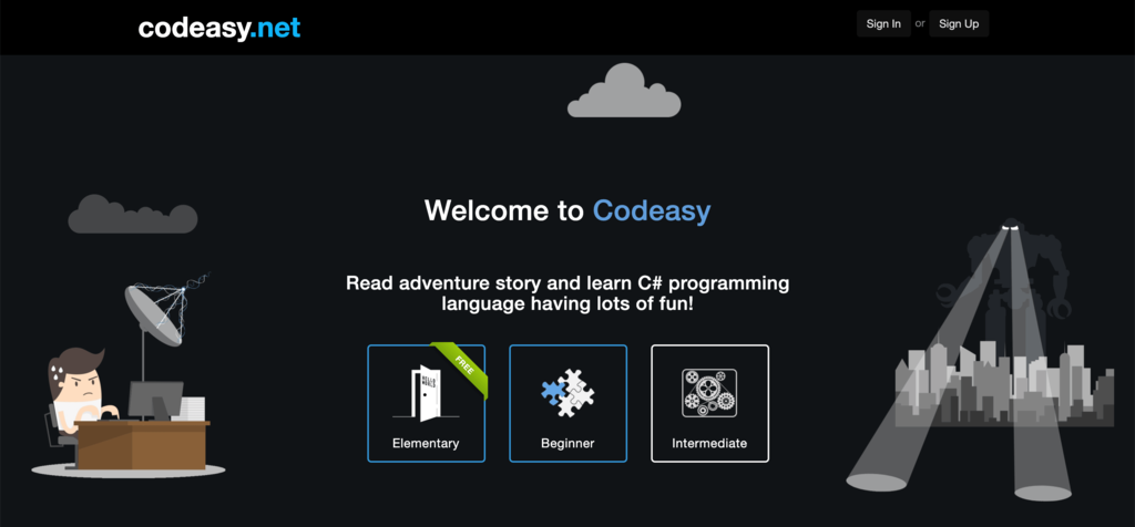 Codeasy.net homepage.