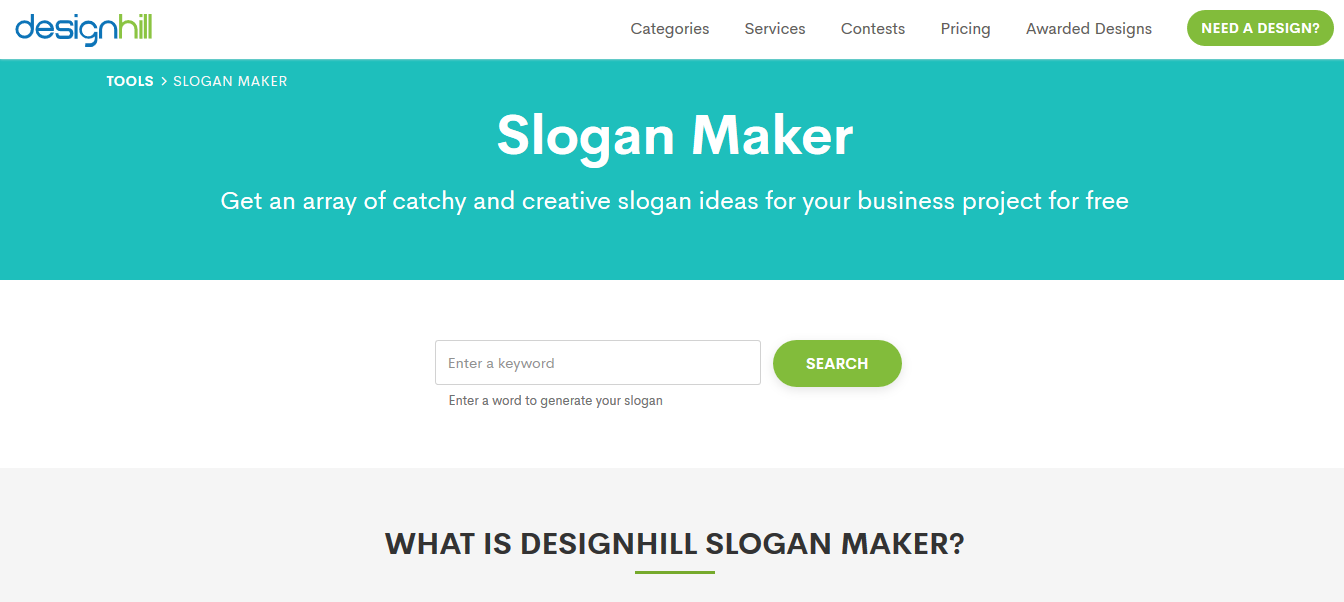 Design Hill Slogan Maker
