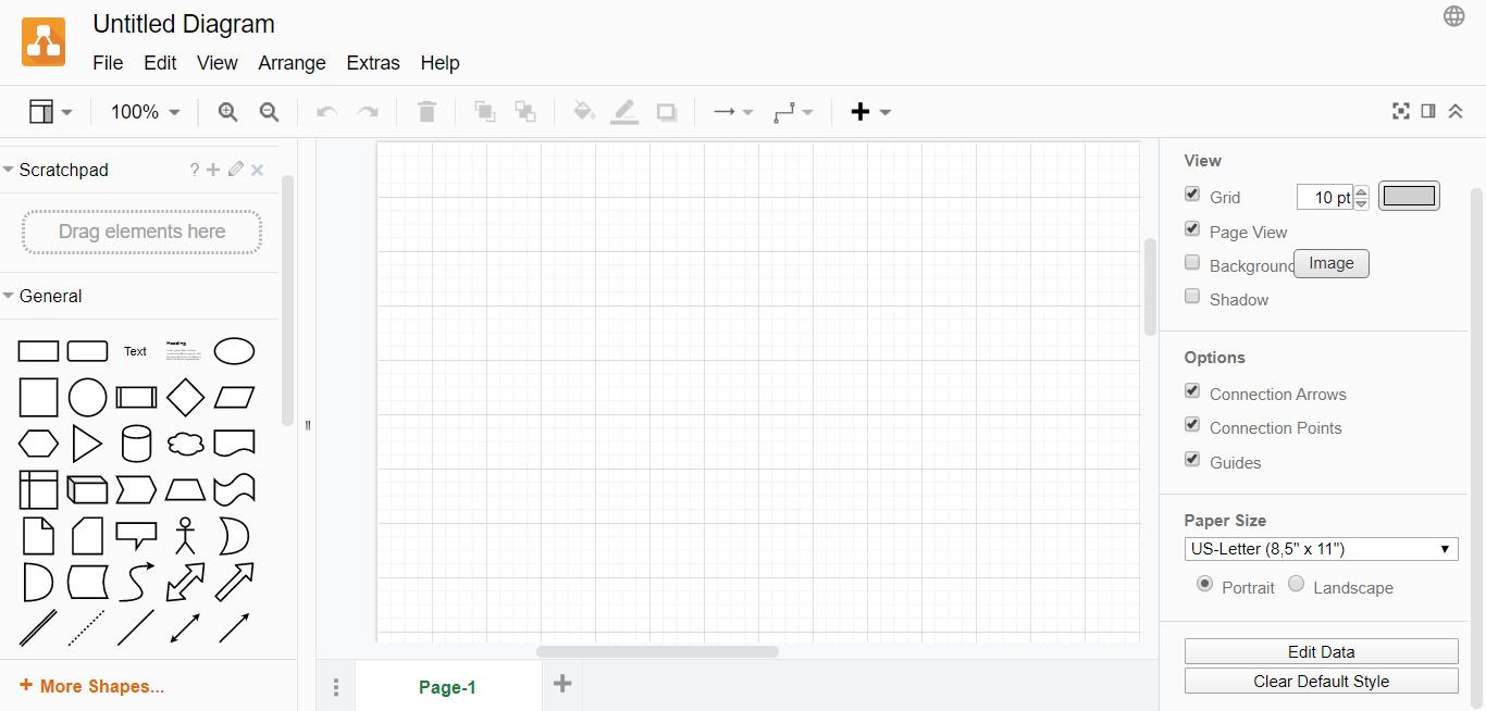 Draw.io homepage