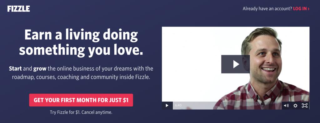 fizzle homepage online courses