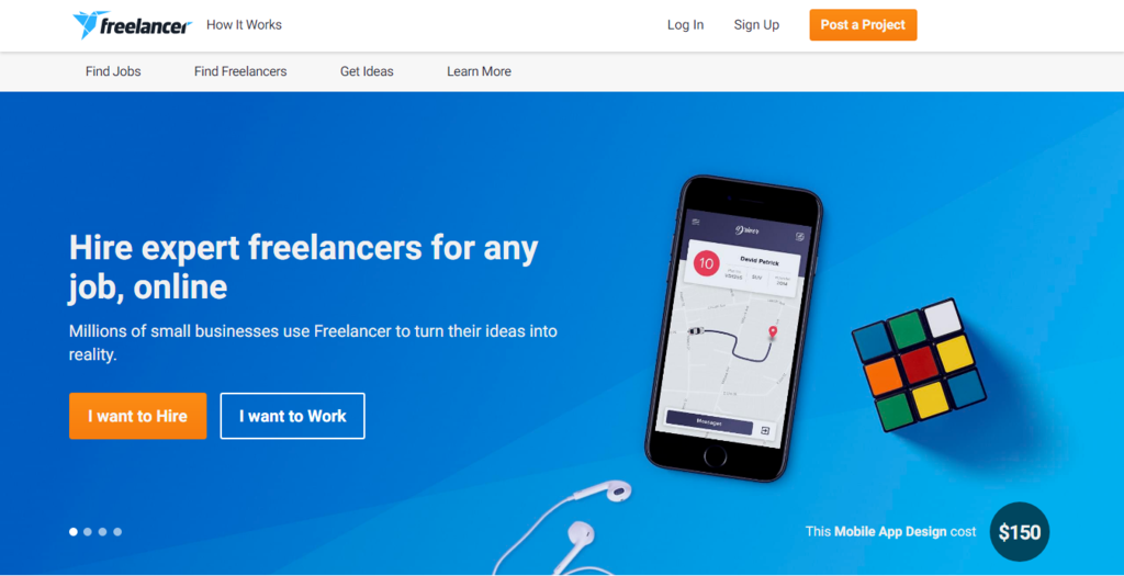 Freelancer homepage to find best work from home jobs