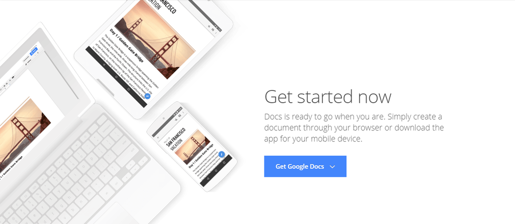 Google Doc's homepage