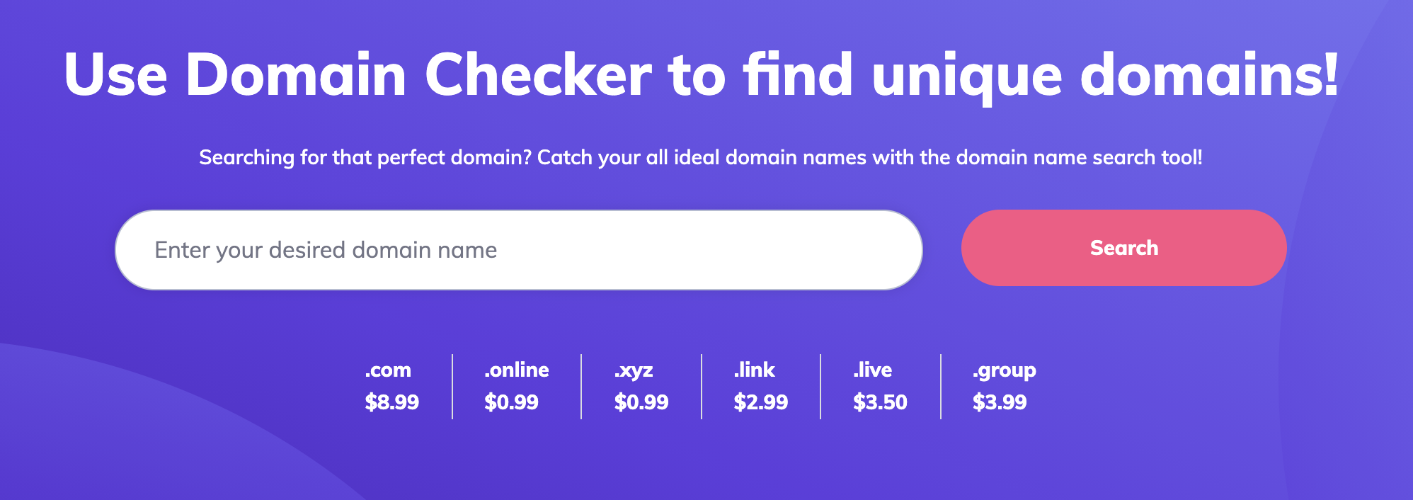 Step one of how to buy a domain name - looking up availability
