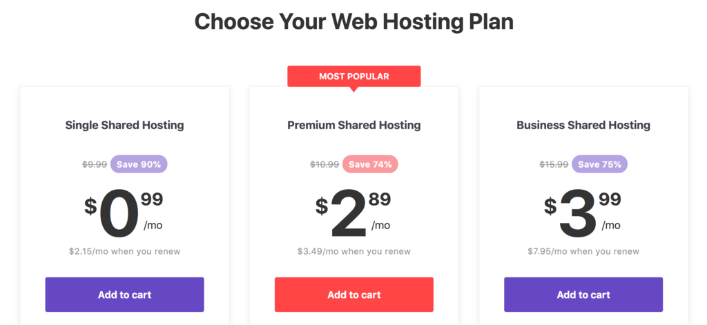 hostinger shared hosting plans for remote business