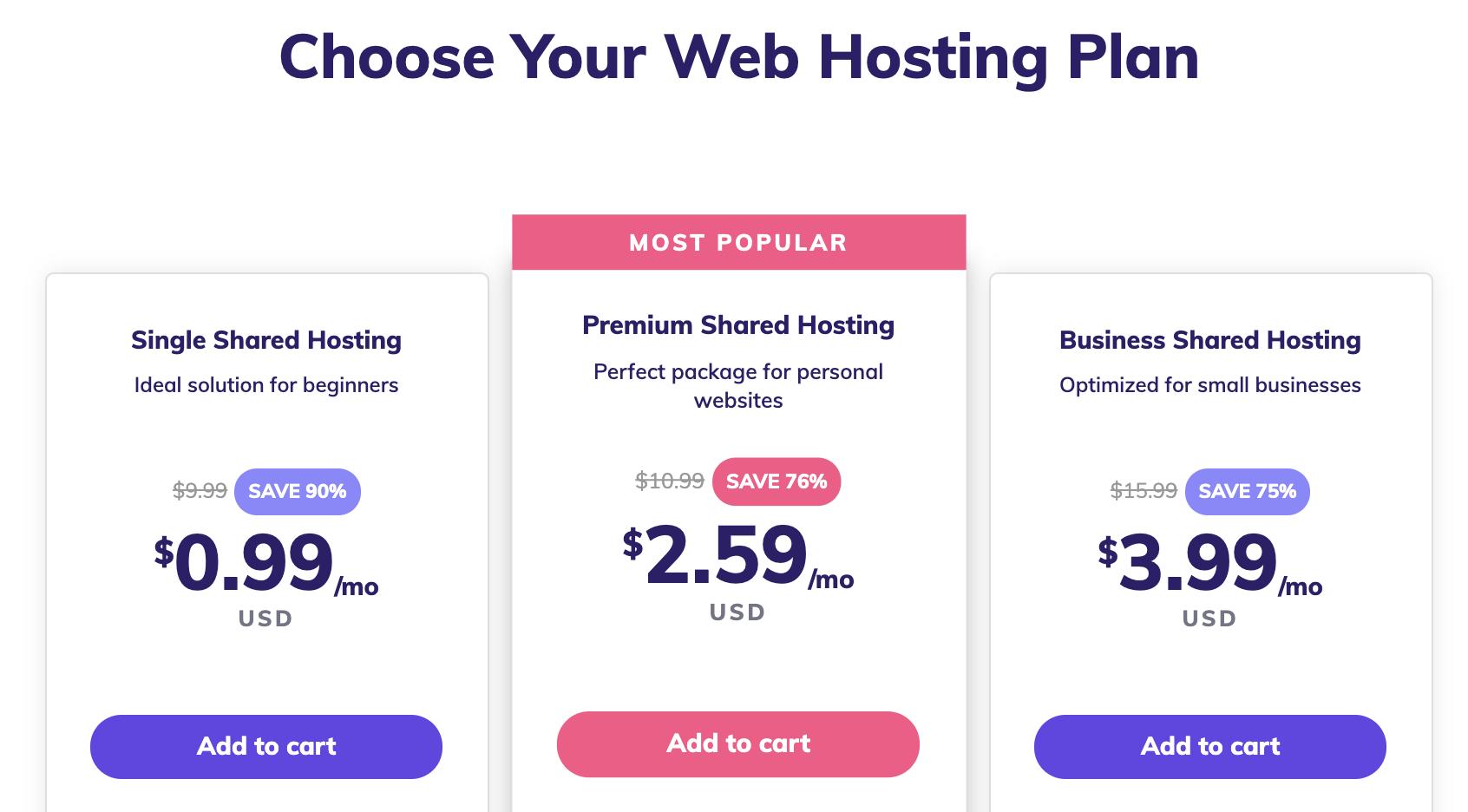 hostinger shared hosting plans for remote business
