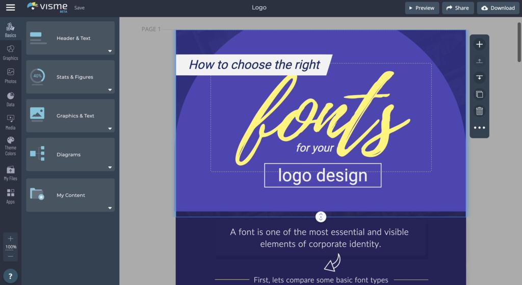 Visme logo design